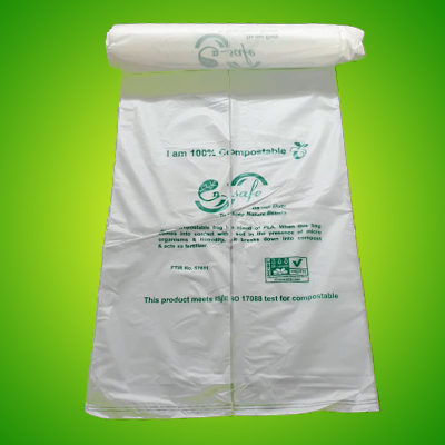 Biodegradable shopping bags carry bag